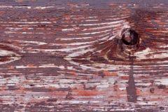 Houten die textuur met bruine verf wordt behandeld Stock Fotografie