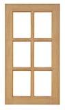Houten die venster voor huisbouw wordt geïsoleerd Royalty-vrije Stock Fotografie