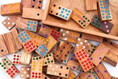 Houten domino. Royalty-vrije Stock Foto's