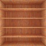 Houten doos met binnen planken Stock Afbeelding