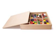 Houten doos met vorm Royalty-vrije Stock Foto's