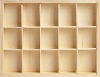 Houten doos op vijftien cellen Royalty-vrije Stock Fotografie