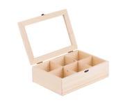 Houten doos voor ballen Royalty-vrije Stock Afbeelding