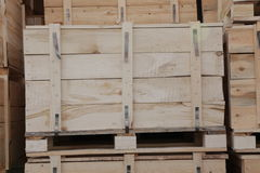 Houten Dozen Stock Foto's