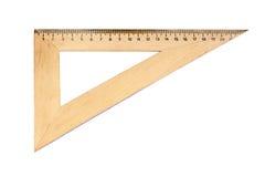 Houten driehoek stock foto's