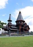Houten Drievuldigheidskerk in Minsk Royalty-vrije Stock Afbeelding
