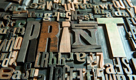 Houten drukwijnoogst als achtergrond Royalty-vrije Stock Afbeelding