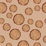 Houten dwarsdoorsnede Vector illustratie Stock Foto's