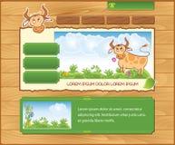 Houten ecologische achtergrond voor Webmalplaatje Stock Afbeelding