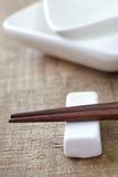 Houten eetstokjes royalty-vrije stock afbeelding