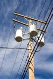 Houten elektroopiniepeiling Stock Afbeeldingen