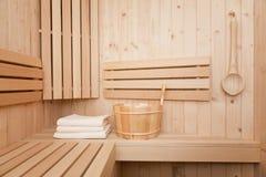 houten emmer met lepel Stock Foto