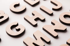 Houten Engelse brievenachtergrond Stock Fotografie