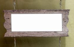Houten etiket royalty-vrije stock afbeelding