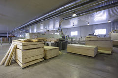 Houten Fabriek stock fotografie