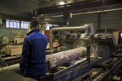 Houten Fabriek royalty-vrije stock afbeeldingen