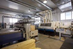 Houten Fabriek stock afbeelding
