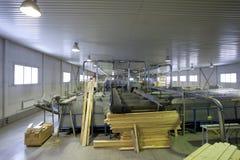 Houten Fabriek stock afbeeldingen