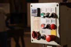 Houten fabrieksmachine royalty-vrije stock afbeelding