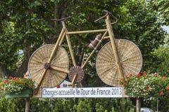 Houten fiets Stock Foto's
