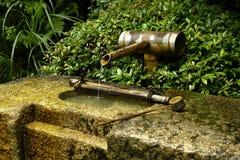 Houten fontein royalty-vrije stock fotografie