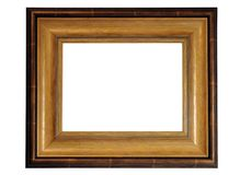 Houten fotoframe Royalty-vrije Stock Foto's