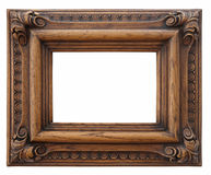 Houten fotoframe Royalty-vrije Stock Fotografie