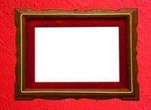 Houten fotoframe Stock Foto