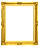 Houten fotoframe gouden kleur Royalty-vrije Stock Fotografie
