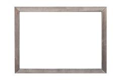 Houten fotokader dat op wit wordt geïsoleerd Stock Foto's