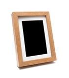 Houten fotokader (het knippen weg) Royalty-vrije Stock Afbeeldingen