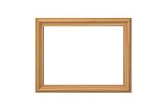 Houten frame dat op een wit wordt geïsoleerdn Stock Afbeeldingen
