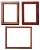 Houten frame dat op wit wordt geïsoleerd? Royalty-vrije Stock Afbeeldingen
