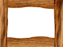 Houten frame dat op wit wordt geïsoleerd Royalty-vrije Stock Afbeeldingen