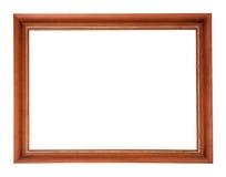 Houten frame dat op witte achtergrond wordt geïsoleerd Royalty-vrije Stock Foto