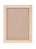 Houten frame dat op witte achtergrond wordt geïsoleerdn Royalty-vrije Stock Foto's