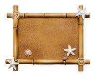 Houten frame dat op witte achtergrond wordt geïsoleerdn Royalty-vrije Stock Foto