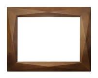 Houten frame dat op witte achtergrond wordt geïsoleerdn Royalty-vrije Stock Afbeeldingen