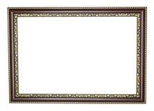 Houten frame met gouden randen Royalty-vrije Stock Afbeelding
