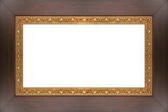Houten frame met patroon Royalty-vrije Stock Foto's