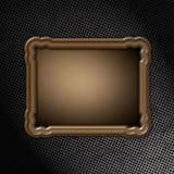 Houten frame op grungemetaal Royalty-vrije Stock Foto's