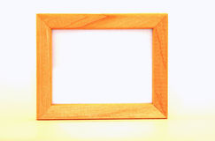 Houten frame op wit Stock Foto's