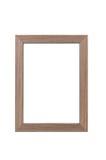 Houten frame op witte achtergrond Royalty-vrije Stock Afbeelding