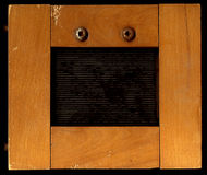 Houten frame van brede randen Royalty-vrije Stock Afbeelding
