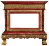 Houten frame wijnoogst Stock Afbeelding