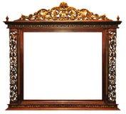 Houten frame wijnoogst Stock Afbeeldingen