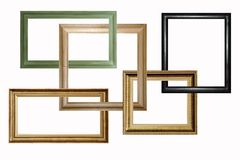 Houten frames stock foto's