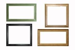 Houten frames royalty-vrije stock afbeelding