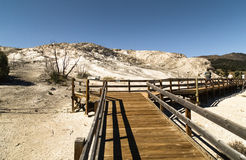 Houten gangweg Yellowstone Nationaal Park WY De V.S. Stock Afbeeldingen