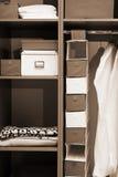 Houten garderobe Stock Afbeelding